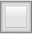 Empty silver picture frame vector image