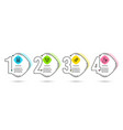 fast payment balloons and calculator icons vector image