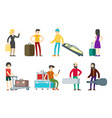flat people characters collection vector image