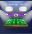 football team with scoreboard vector image