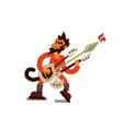 funny monkey playing electric vector image