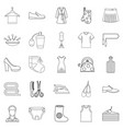 gift icons set outline style vector image vector image