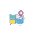 gps location map travel direction icon design vector image vector image
