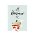 hand drawn abstract fun merry christmas vector image vector image