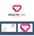 Health care logo template vector image