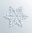 Holiday 3D Snowflake vector image vector image