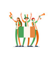 irish flag ireland people vector image vector image