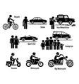 land personal transport transportation vehicles vector image vector image