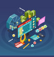 lottery isometric composition vector image vector image