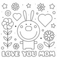 love you mom coloring page vector image vector image