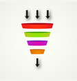marketing funnel for conversion and sales vector image vector image