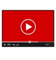Modern flat video player interface eps vector image vector image