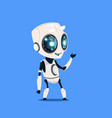 modern robot isolated on blue background cute vector image vector image