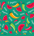 organic fruit and vegetable icon seamless pattern vector image vector image