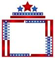Patriotic frame border vector image vector image
