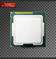 processor computer hardware vector image