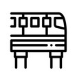 public transport monorail thin line icon vector image vector image