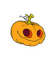 pumpkin on a white background on a white vector image vector image