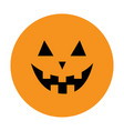 pumpkin round icon smiling face emotion trriangle vector image vector image