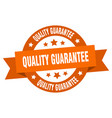 quality guarantee ribbon quality guarantee round vector image vector image