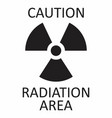 radiation caution symbol vector image vector image