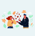 red heart in woman and man vector image