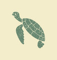 sea turtle icon vector image vector image