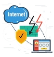 Secure internet connection vector image vector image