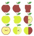 Set of Apple Icons vector image vector image