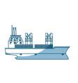 ship container cargo delivery crane - shadow vector image