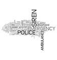 siren word cloud concept vector image vector image