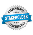 Stakeholder round isolated silver badge