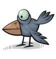 standing crow vector image vector image