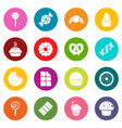 sweets candy cakes icons set colorful circles vector image vector image