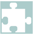 the puzzle the white color icon vector image vector image