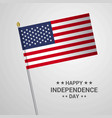 united states of america independence day vector image