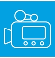 Video camera thin line icon vector image vector image