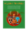 welcome to africa poster lettering african vector image vector image