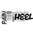 what is heel pain text word cloud concept vector image vector image
