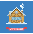 Winter Chalet House vector image