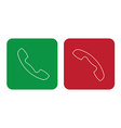 phone on off signs vector image