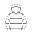duvet jacket with hood vector image