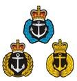 Navy cap badge vector image