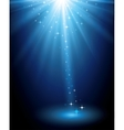 Abstract magic blue light background vector image vector image