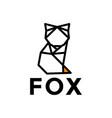 abstract outline fox logo