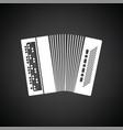 accordion icon vector image vector image