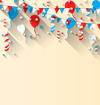 American patriotic background with balloons vector image vector image