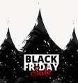 black friday sale poster design vector image vector image