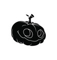 black halloween pumpkin pattern on white vector image vector image