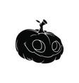 black halloween pumpkin pattern on white vector image